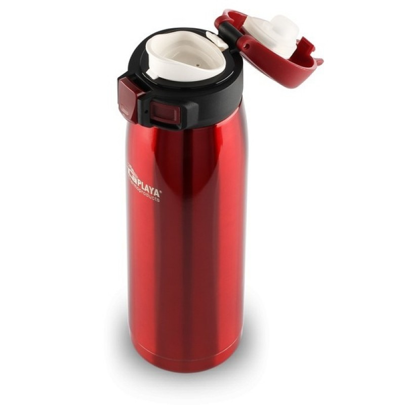 Термокружка LaPlaya Travel Tumbler Bubble Safe 0.5L Red со стоппером (560065) (фото 2)
