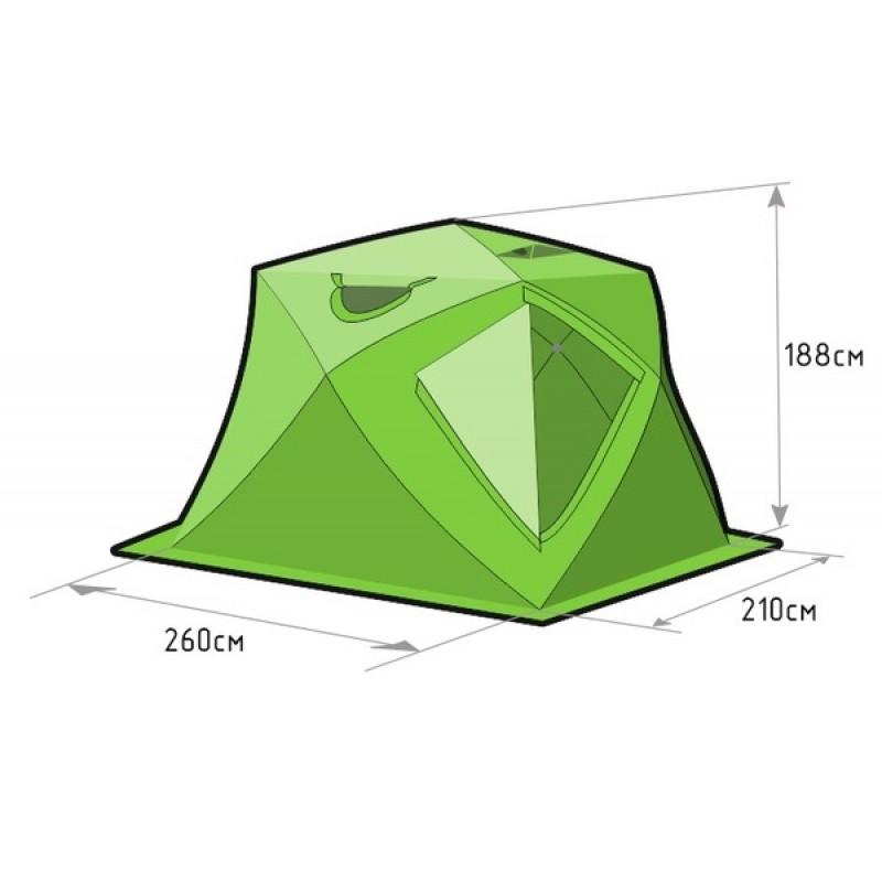 Зимняя палатка ЛОТОС Куб 4 Компакт (фото 2)