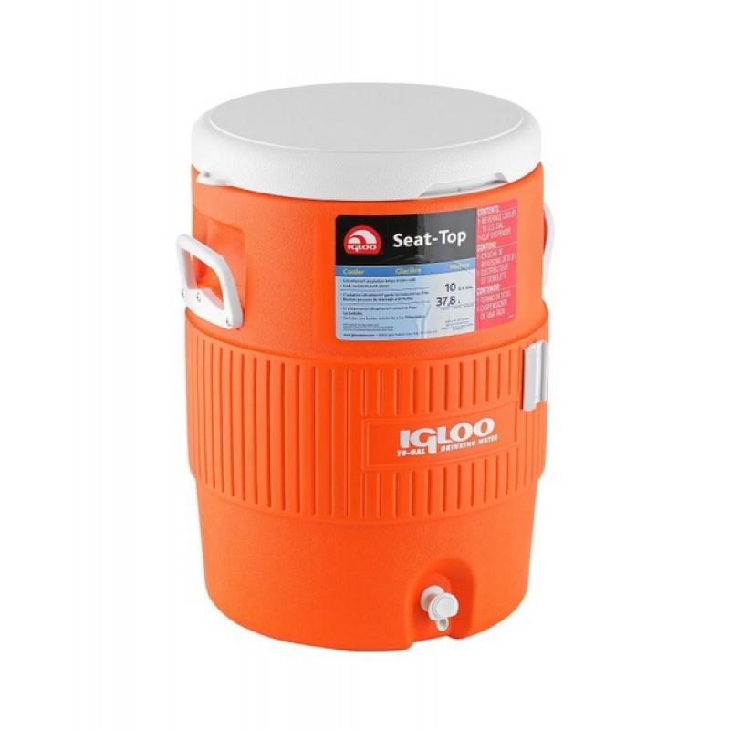 Изотермический контейнер Igloo 10 Gallon Seat Top Orange