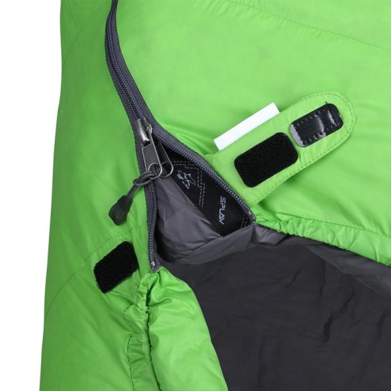 Спальный мешок СПЛАВ Adventure Comfort (лайм, пуховый) (фото 3)