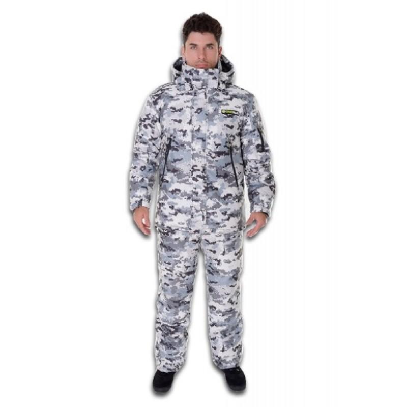 Зимний костюм для охоты и рыбалки ONERUS Тактика -45 (Алова/Белый)