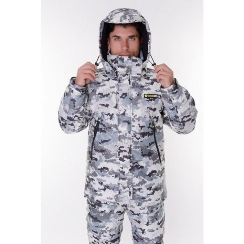Зимний костюм для охоты и рыбалки ONERUS Тактика -45 (Алова/Белый) (фото 2)