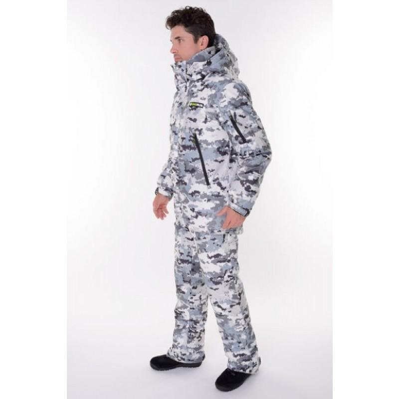 Зимний костюм для охоты и рыбалки ONERUS Тактика -45 (Алова/Белый) (фото 3)