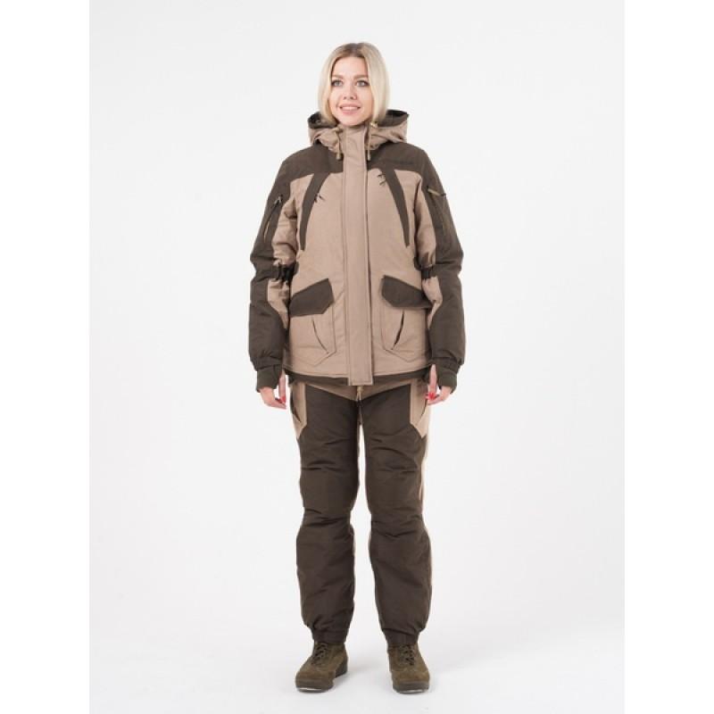Женский костюм для охоты и рыбалки TRITONGEAR Горка -40 (Финляндия/Бежевая) полукомбинезон (фото 3)