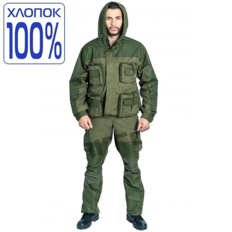 Летний костюм для охоты и рыбалки TRITON Тактик (Хлопок, зеленый)