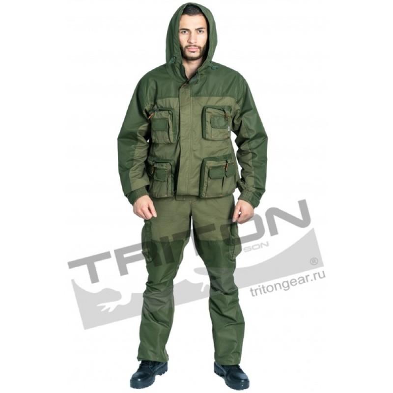 Летний костюм для охоты и рыбалки TRITON Тактик (Хлопок, зеленый) (фото 2)