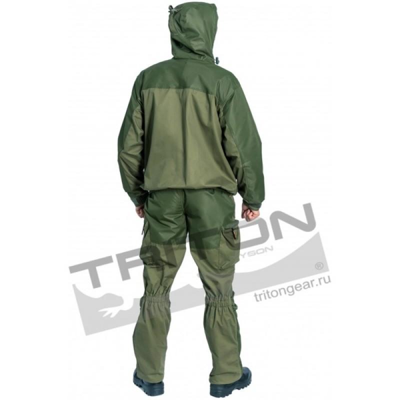 Летний костюм для охоты и рыбалки TRITON Тактик (Хлопок, зеленый) (фото 3)