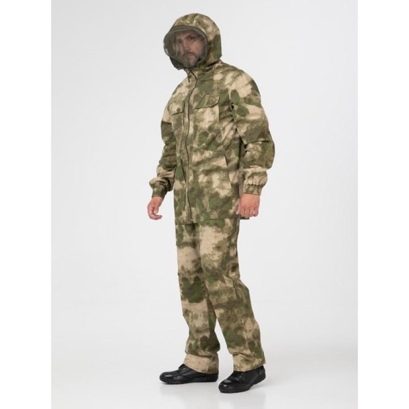 Летний антимоскитный костюм KATRAN ПОЛИГОН (Хлопок, камуфляж) (фото 2)