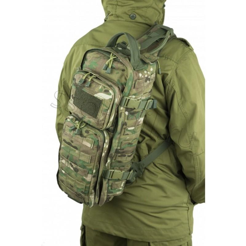 Тактический однолямочный рюкзак SSO РЫСЬ Цифра флора (фото 2)