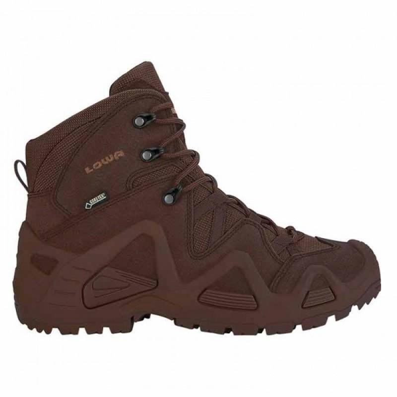 Женские тактические ботинки Lowa ZEPHYR GTX MID TF WS Dark brown