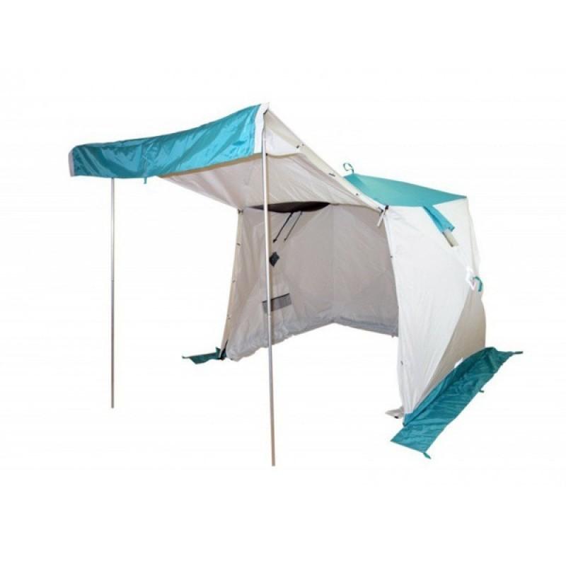 Универсальная палатка Пингвин Призма Шелтерс Премиум (2-сл) белый-бирюзовый
