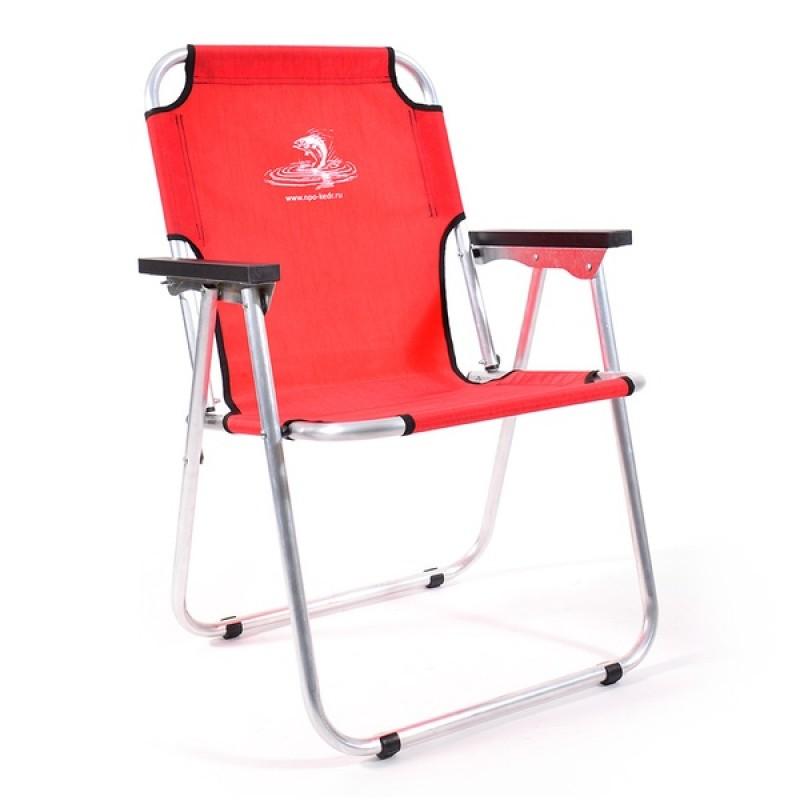 Кресло-шезлонг КЕДР AKS-08 (алюминий, красный)