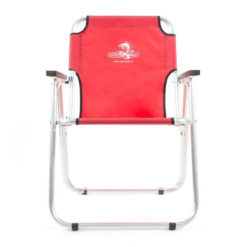 Кресло-шезлонг КЕДР AKS-08 (алюминий, красный) (фото 2)