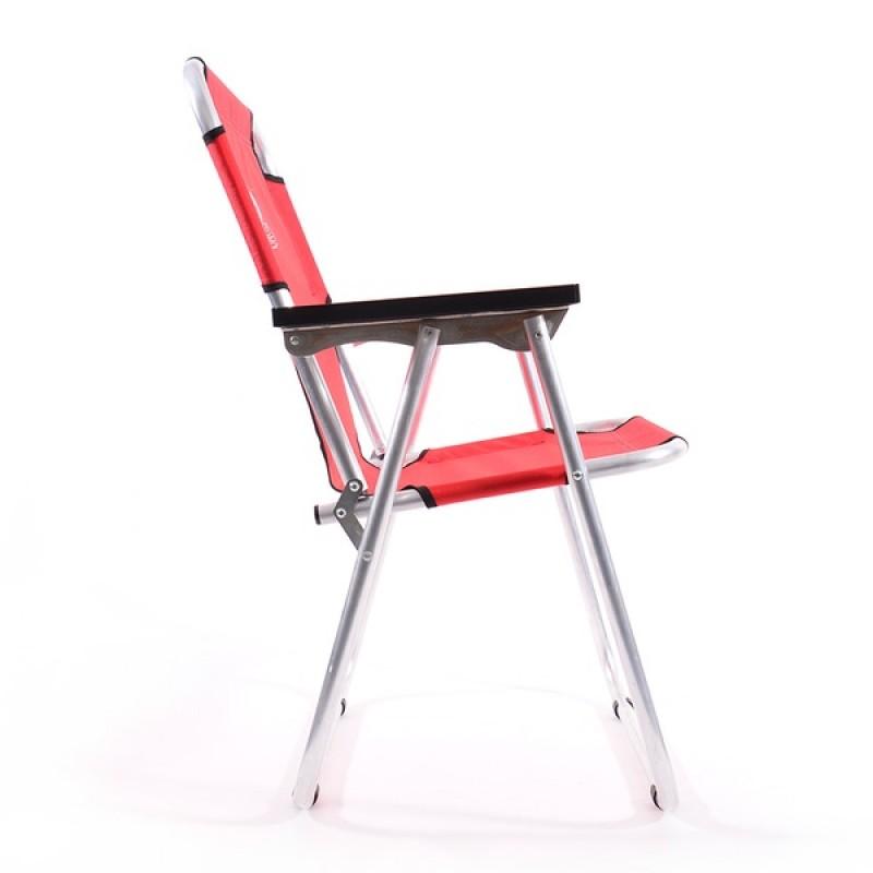 Кресло-шезлонг КЕДР AKS-08 (алюминий, красный) (фото 3)