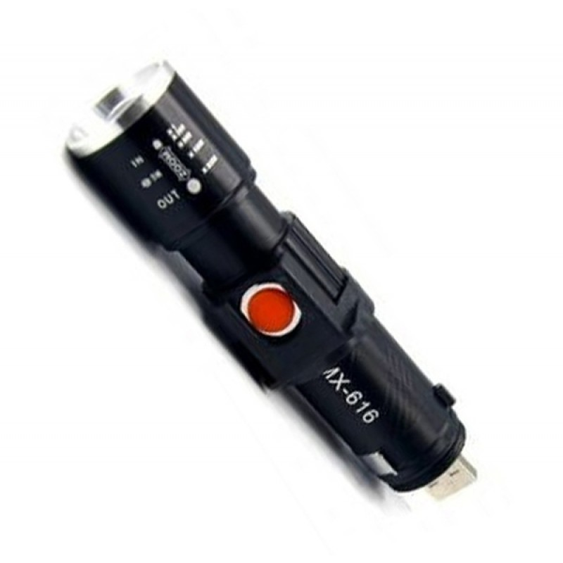 Фонарь WERDUM Т14 w459 USB черный