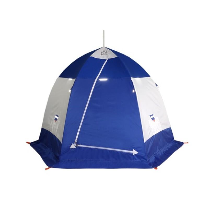 Палатка для зимней рыбалки Зонт Пингвин 4 (1-сл) бело-синяя