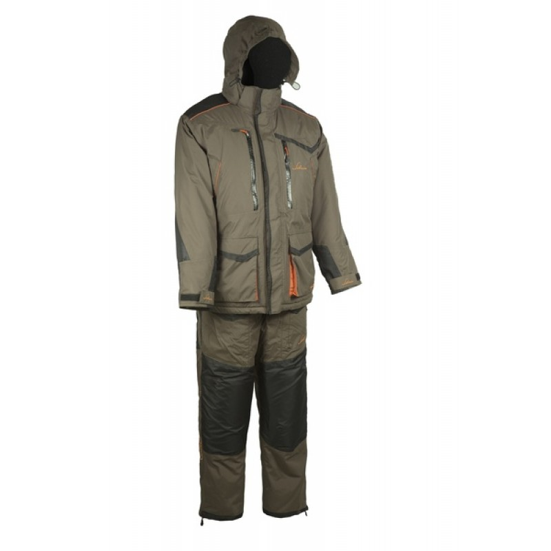 Зимний костюм для рыбалки Siberia -45°С (Хаки, Breathable) Huntsman
