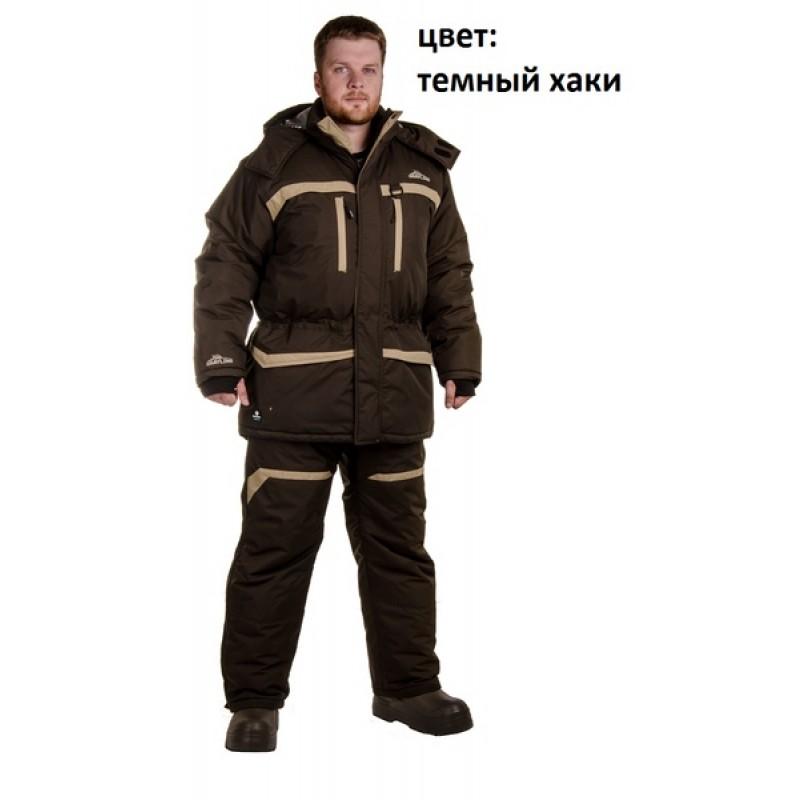 Зимний костюм для рыбалки «Cоболь» -45 (Таслан, темный хаки) GRAYLING (фото 2)