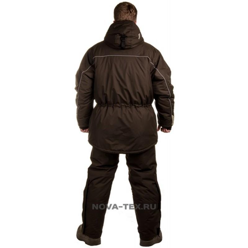 Зимний костюм для рыбалки «Cоболь» -45 (Таслан, темный хаки) GRAYLING (фото 3)