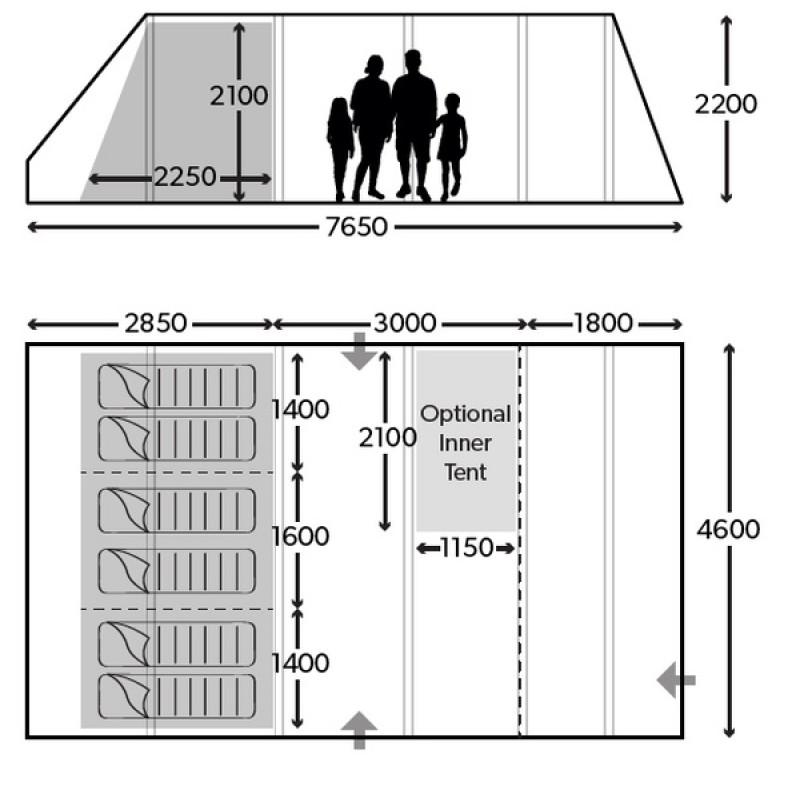 Надувная палатка Dometic ASCENSION FTX 601 (фото 2)