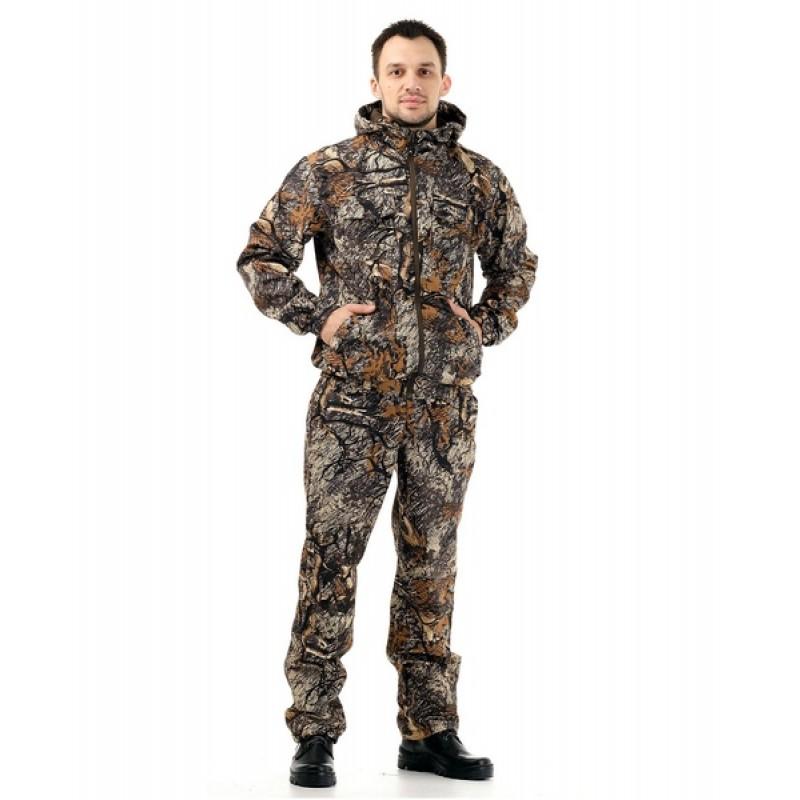 Осенний костюм для охоты и рыбалки «Барс» 0°C (полофлис, золотая ветка) КВЕСТ (подкладка флис)