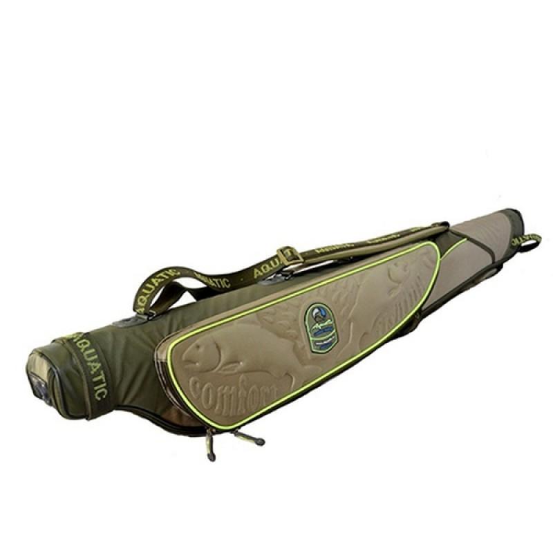 Чехол для удилищ Aquatic Ч-09х жёсткий (132 см) хаки