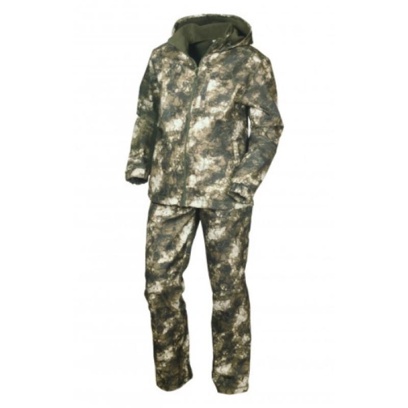 Осенний костюм для охоты и рыбалки ОКРУГ «ЗАРЯ» (камуфляж зеленый MU-1-3)