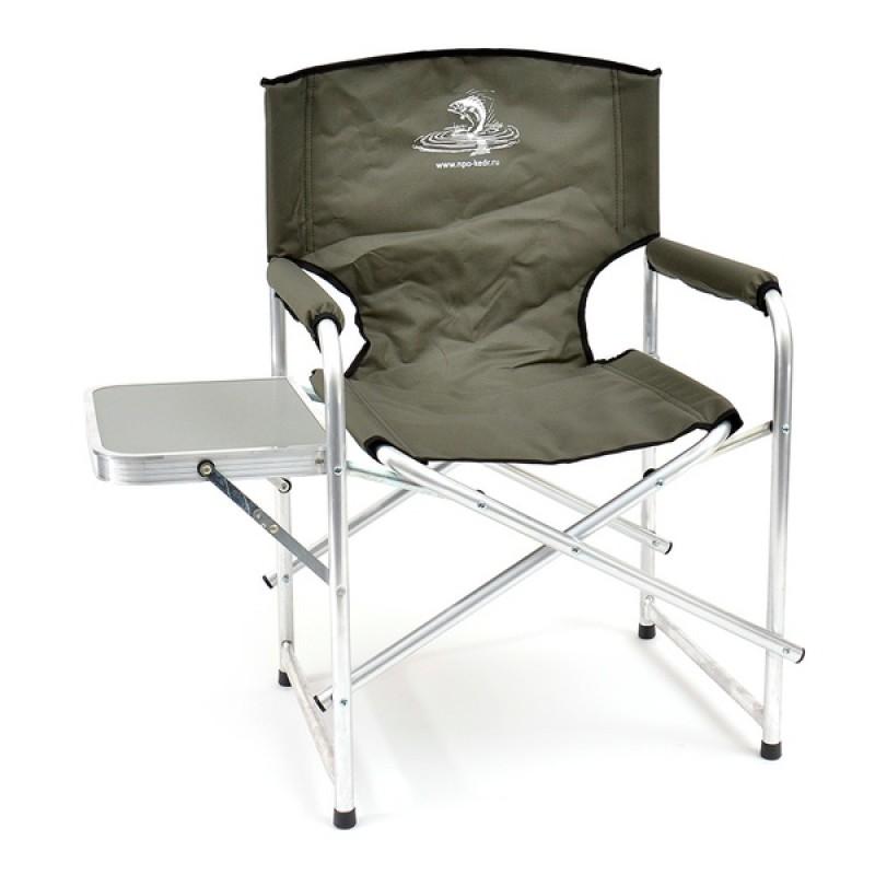 Кресло складное КЕДР со столиком AKS-06 (алюминий/пластик, хаки)