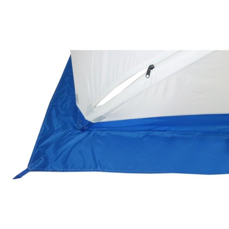 Палатка для зимней рыбалки Пингвин Призма (1-сл, композит) синяя-белая (фото 3)