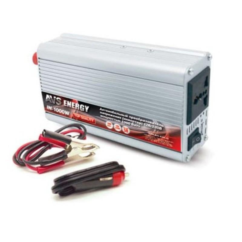 Преобразователь напряжения 12-220 AVS Energy 12/220V IN-1000W