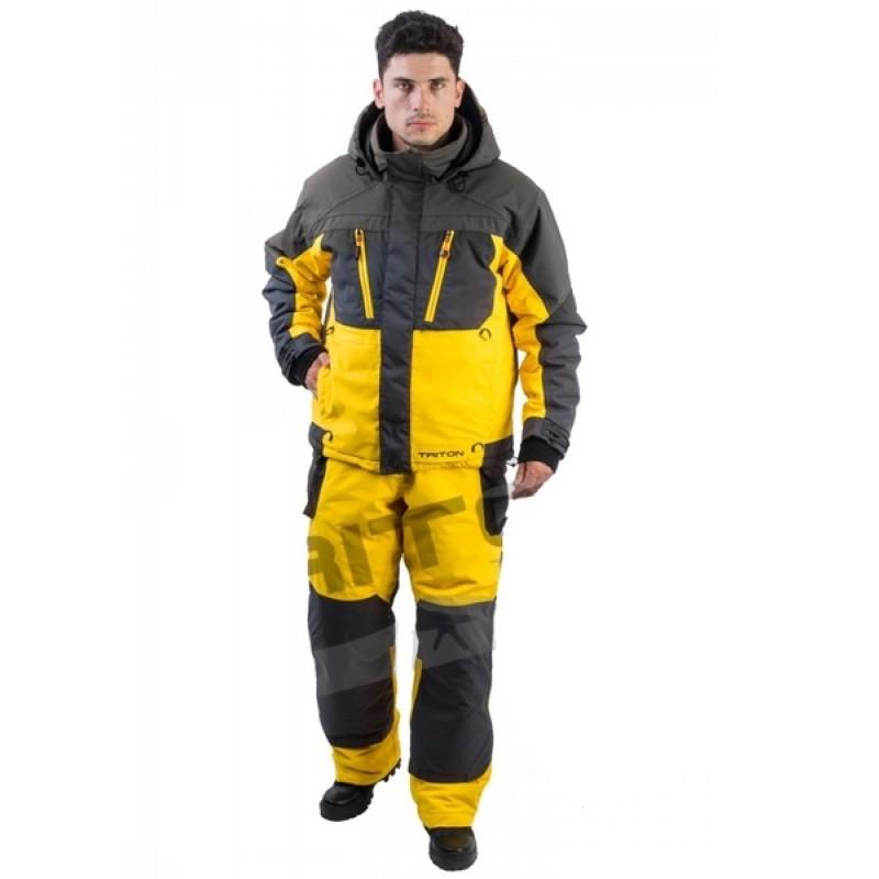 Зимний костюм для рыбалки и охоты TRITON Экстрим -40 (Таслан, желтый)
