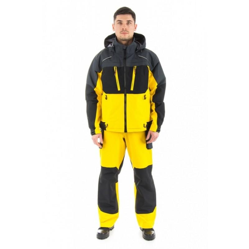 Зимний костюм для рыбалки и охоты TRITON Экстрим -40 (Таслан, желтый) (фото 3)