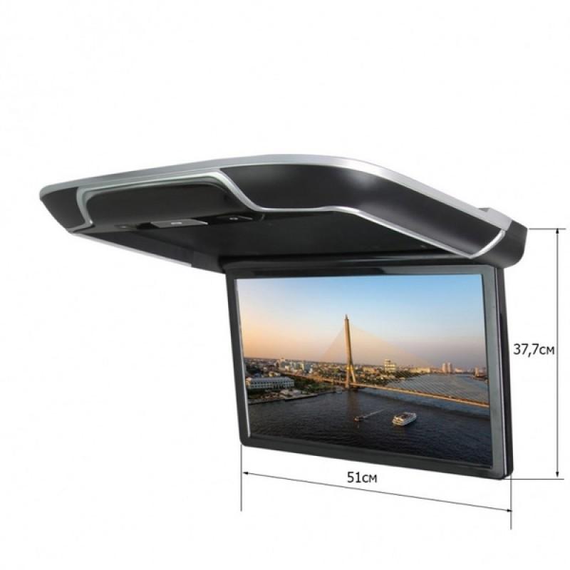 Потолочный монитор для автомобиля Потолочный СМАРТ ТВ 22 ERGO ER22AND (1920X1080, ANDROID) черный (фото 2)